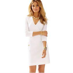 Lilly Pulitzer Charlena Deep V-Neck Shift Dress XS